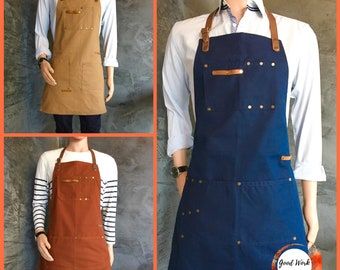 Apron for Kitchen Home Gardening Cooking Chef Cafe Barista Gift