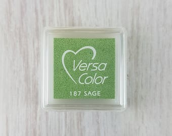VersaColor Pigment Ink Pad Small in Sage - Small Green Ink Pad - Ink for Stamp