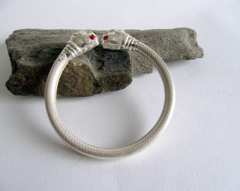 India Silver Temple Bangle.India Ethnic Jewelry