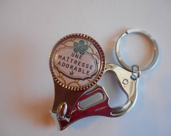 """Key - ring cut nails-lime-bottle opener/teacher / """"An adorable centerpiece"""" Jay/gift end of year/birthday/Christmas wonderland"""