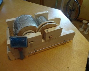 Calet Mini DRUM CARDER PLANS- Immediate pdf Including Patterns & Templates