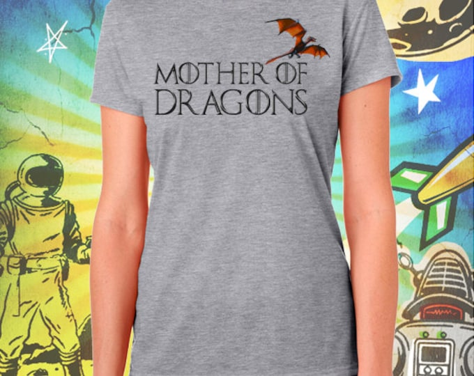 Game of Thrones / Mother of Dragons / Women's Gray Performance T-Shirt