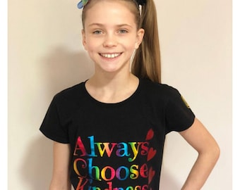 ADULT SIZE - Always Choose Kindness - Charity fundraiser t-shirt #helpameliamartin