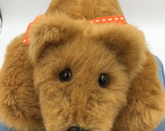 Teddy Bear, Incredibly Soft, Huggable, Plush, Handmade, OOAK, Children & Adults, Irresistible, Comforting to hold, Cuddly, Copper Colored