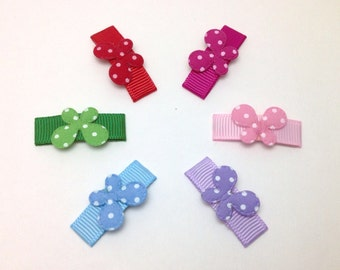Set of 6 Baby Girl Hair Clips. Toddler Hair Snap Clips. Butterfly Hair clips. Butterfly Baby Hair Clip.