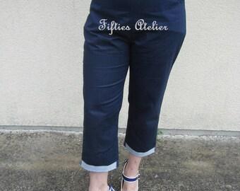 Capri pants, capri blue