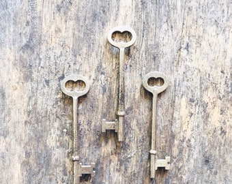 Vintage Skeleton Key Collection // Set of Three