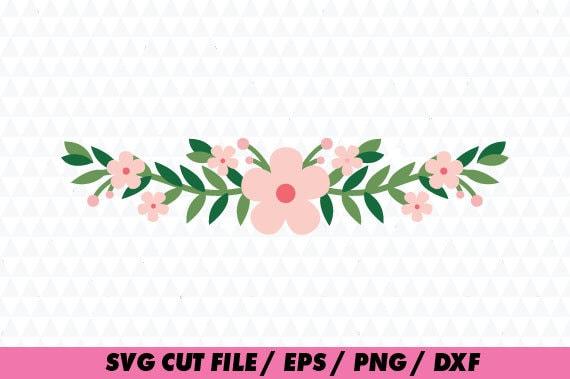 flower svg floral svg floral cricut flower wreath svg