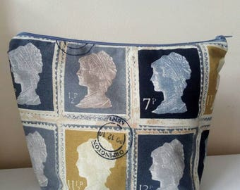 Large UK stamps toiletry bag