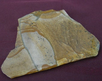 Picture Jasper Slab -Beautiful Camel, Tan & Creamy White, Handmade Stone Slice, Jasper Slice, Exquisite, by JewelryArtistry - SL494