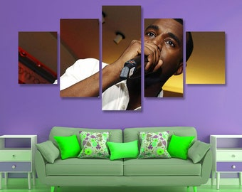 Kanye West Poster Kanye West Canvas Kanye West Wall Art, Wall Decor, 5 pieces set, Birthday Gift, Home Decoration, Giclee kids room gift