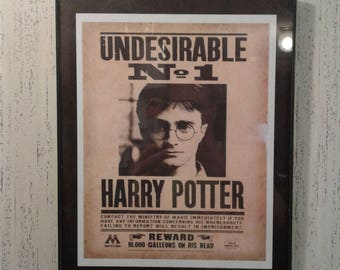 Harry Potter Undesirable No 1 Digital Download Wanted Poster Print Daily Prophet Wall Art Decor Hogwarts Ministry of Magic Printable