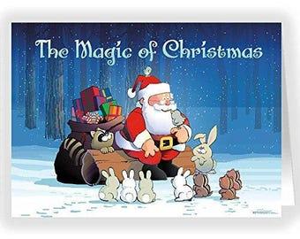 Santa and Friends - Magic of Chrismtas - 18 Cards & Envelopes - 20049