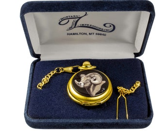 Pocket Watch with Porcelain Art