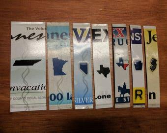 License Plate brieven - staat embleem spacers