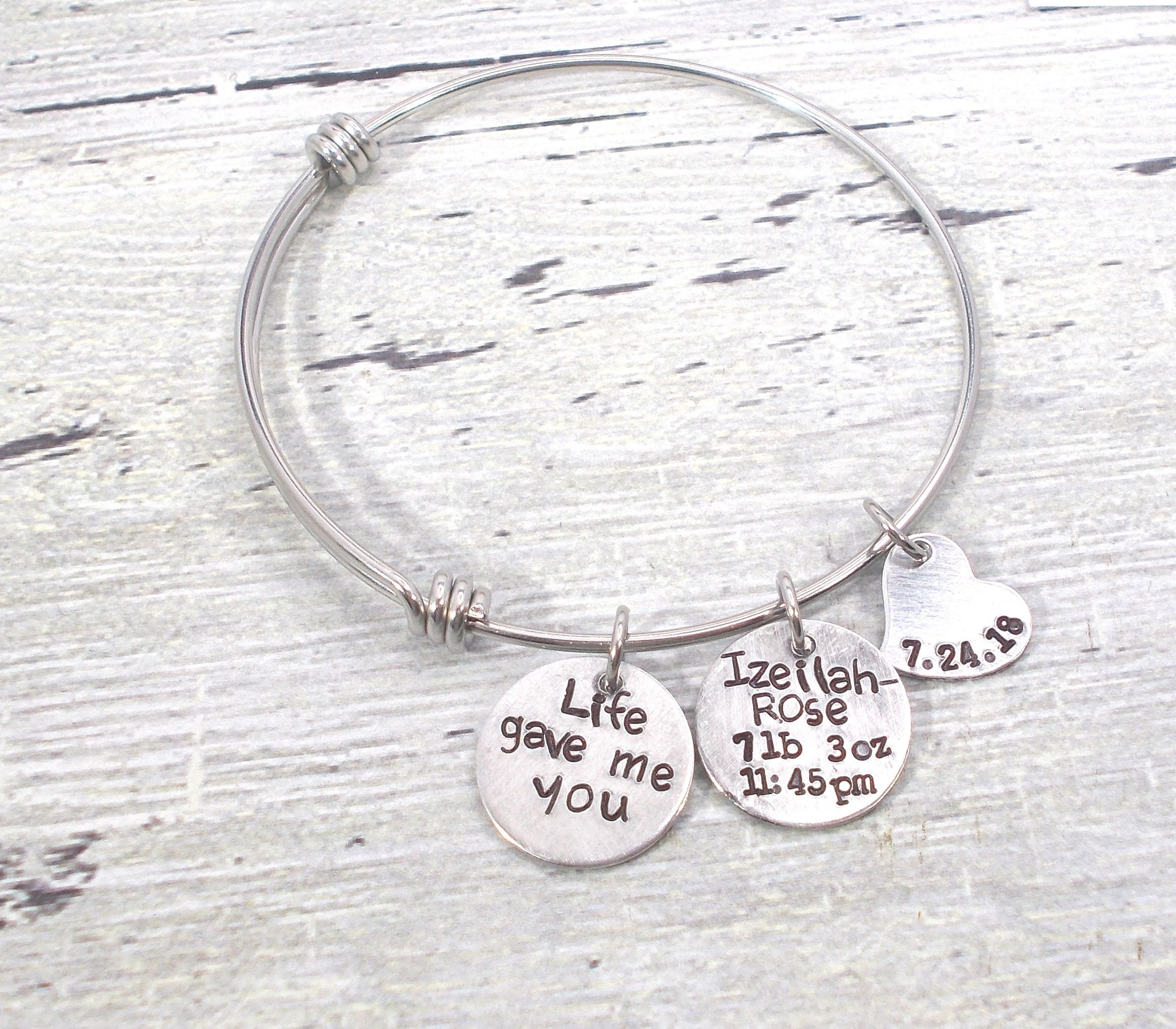 Personalized baby stats jewelry personalized mom bracelet new mom personalized baby stats jewelry personalized mom bracelet new mom gift push gift baby stats gift mom jewelry baby gift baby stats negle Gallery