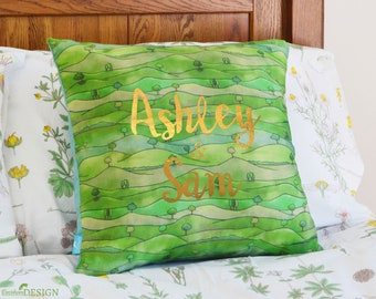 Countryside Personalised Cushion Cover, Decorative Pillow, Personalised Cushion, Decorative cushion, Throw Pillow, Personalised Wedding Gift