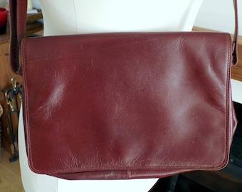 Nova leathers vintage reddy brown leather shoulder or cross body bag