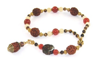 Meditation Beads, Rudraksha and Gemstone Beads / Prayer Beads
