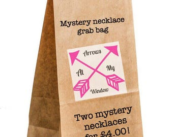 Mystery necklace grab bag, Stock clearance necklace, Necklace, Necklaces, Pendant, Pendants, Mystery Grab Bag,