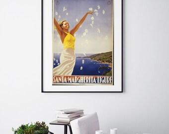 Santa Margherita Ligure - Vintage Print - Italian Collection