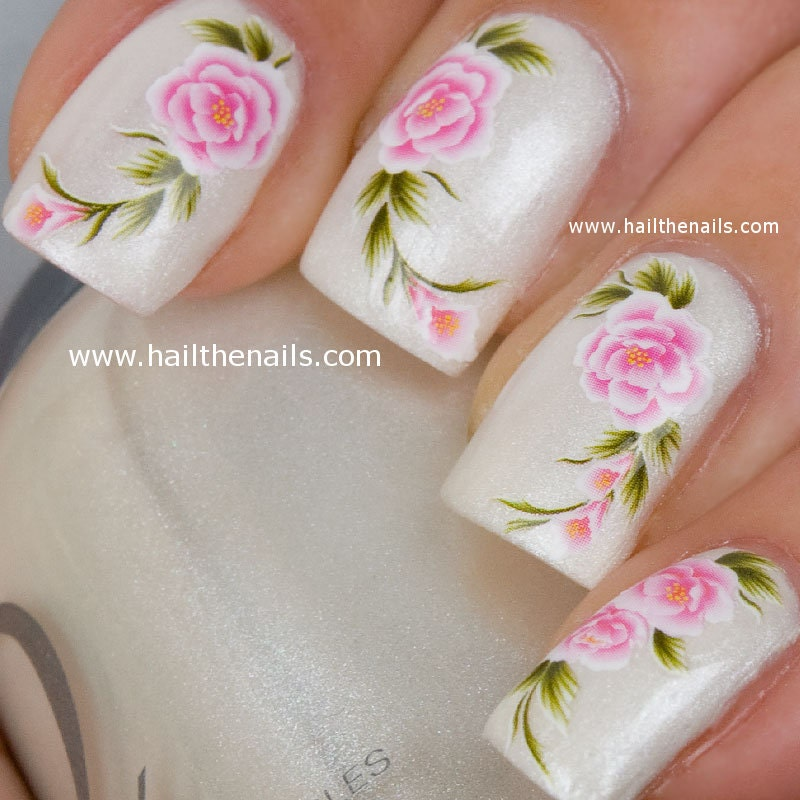 Colorful Nail Art Roses Picture Collection - Nail Paint Design Ideas ...