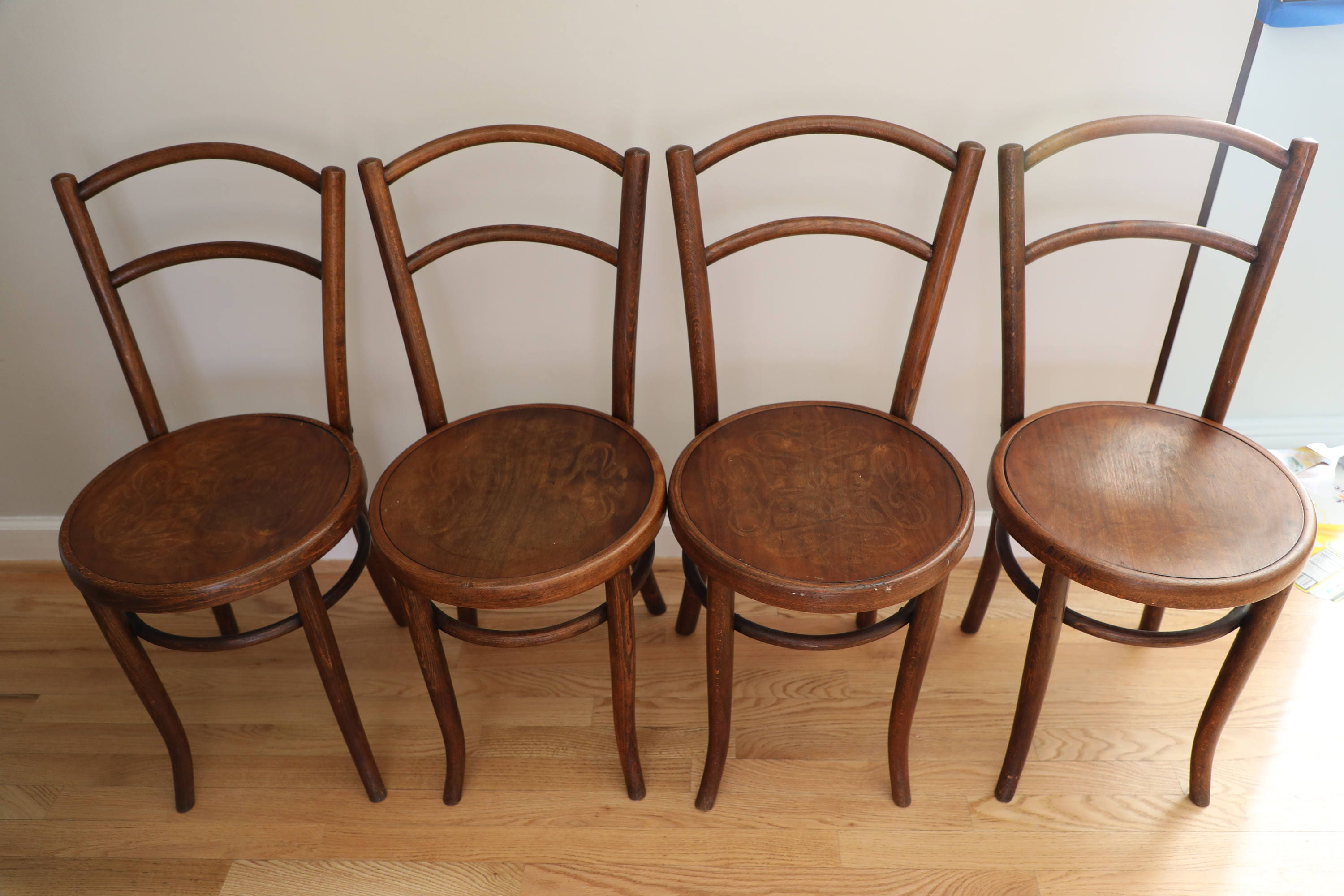 Set Of Four Antique Bentwood Parlor Chairs By Fischel Circa # Muebles Fischel