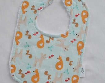 Aqua Good Natured Chenille Bib