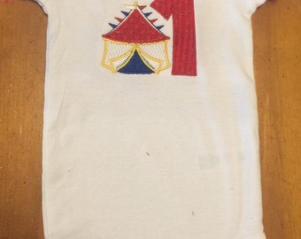 Circus Carnival Personalized Age Onsie