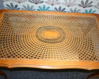 Vintage coffee table Period furniture Wiener Braid 60s