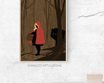 Red Riding Hood - stylish print / poster
