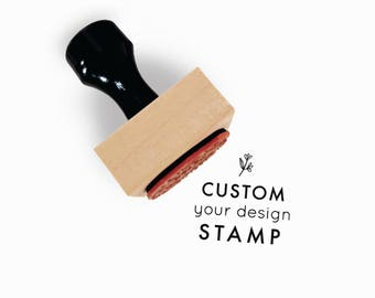 "Custom 1.5"" x 1.5"" Rubber Stamp 