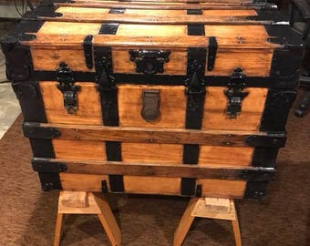 Refinished Antique Steamer Trunk