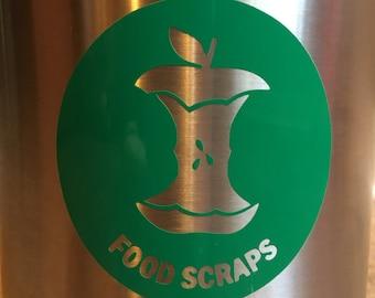 Food Scraps Decal -- Vinyl Only