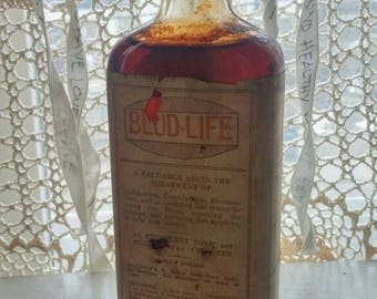 Antique medical cure Blud-Life The King of Tonics