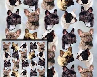 French Bulldog Gift Wrapping Paper with matching Gift Card