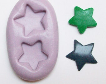 Stars Mold #55 - silicone mold, craft mold, porcelain mold, jewelry mold, food mold, pop up mold, clays mold, flexible mold