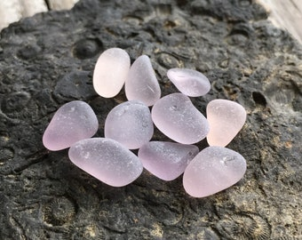 Purple & Pink Sea Glass Pieces