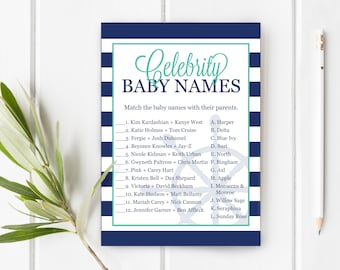 Celebrity Baby Names Game, Guess The Names of the Celeb's Babies, Baby Shower Games, Item 203