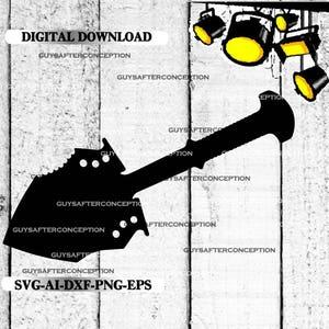 Survival Shovel Vector Images SVG Files Digital Cutting Files  Ai - Eps - PNG - DXF - Svg A1