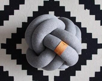 "MEDIUM 10"" / 25.5 cm Sphere Knot Pillow - Throw Pillow, Nursery Pillow, Kids Pillow, Nursery Pillow, Nautical, Home Decor Cushion"