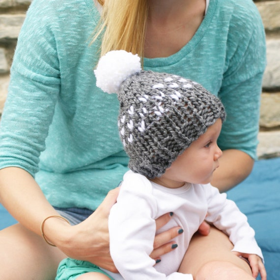Mommy and Me Matching Fair Isle Hats Mommy Daughter Knit Hat