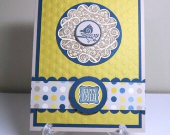 Little Birdie Happy Day Handmade Card