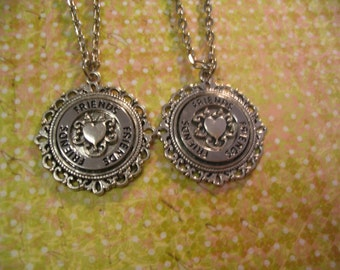 2 Friendship Necklaces in Fancy Settings