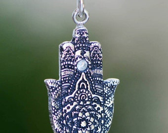 Hamsa  Silver Charm