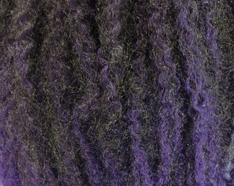 Marley Braid Kanekalon Hair Extensions, Black Orchid with Deep Purple Tips