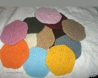 Hand crocheted nylon potscrubber