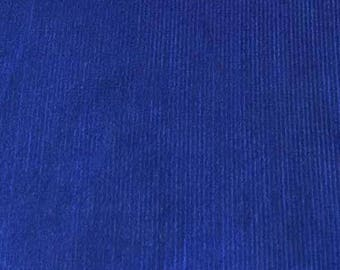 "SALE Bright Royal Featherwale Corduroy Fabric  --  44"" Wide"