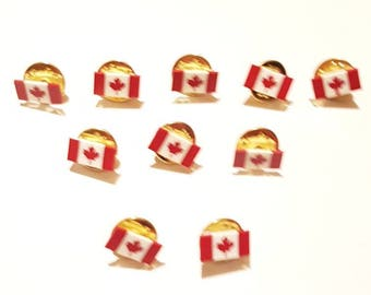 10 Canada push back lapel pins.