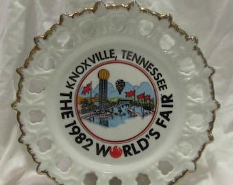 Collectable Decorative Plate, 1982 World's Fair, Knoxville - Tennessee, Porcelain, Korea